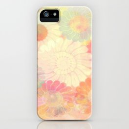 floral painterly effect iPhone Case