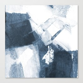 Blue and White Abstract Painting Canvas Print