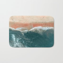 Tropical Drone Beach Photography Bath Mat