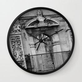Balcony at Kirby Hall Wall Clock