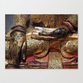 Golden Buddha Hand Mudra Canvas Print
