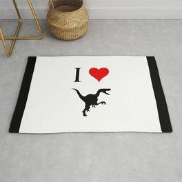 I Love Dinosaurs - Velociraptor Rug