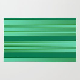 Green Ombre Stripes Rug