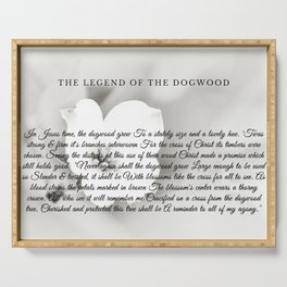 The Legend Of The Dogwood 6 Serving Tray
