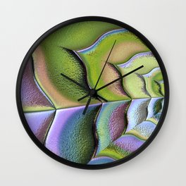 Frosted Glass Panel Wall Clock