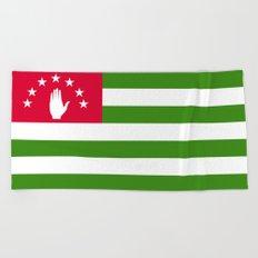 Abkhazia Flag Beach Towel