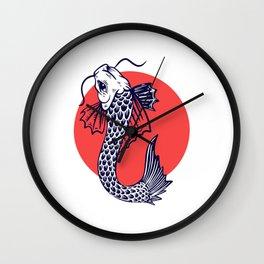 Japan Koi Carp Fish Design Gift Wall Clock