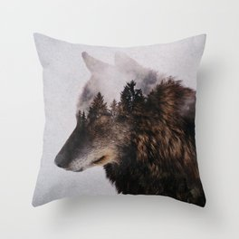 Canis Lupus Throw Pillow