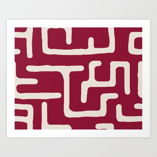 Kuba in oxblood Art Print