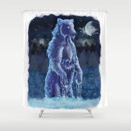 Moon Bear Shower Curtain