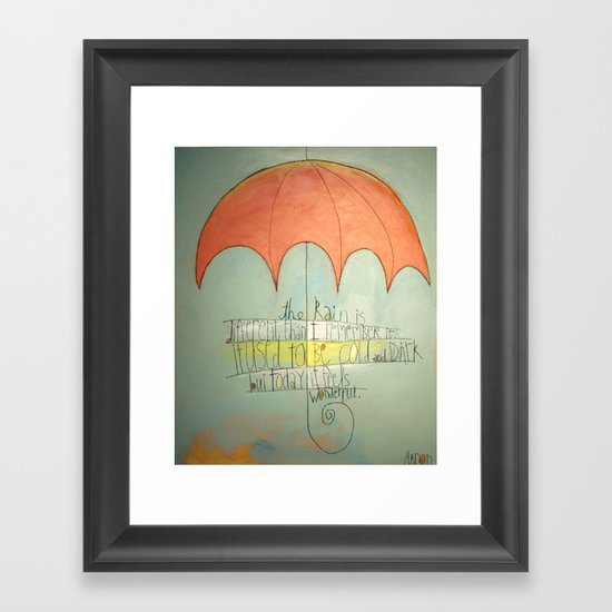 Different Than I Remember Framed Art Print