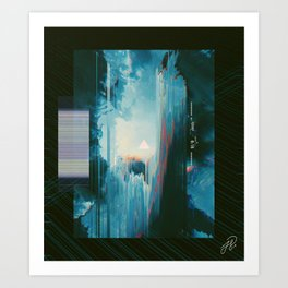 transported behind the select screen // Art Print