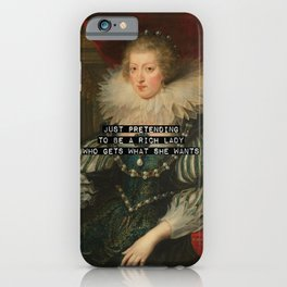 Just pretending - v2 iPhone Case