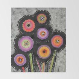 Flowers #6 Throw Blanket