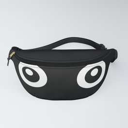 Scared Cartoon Eyes in the Dark Fanny Pack
