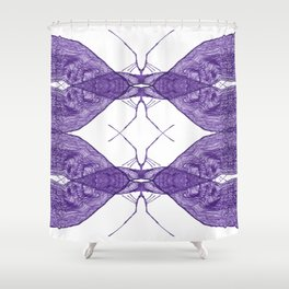 Intricate insect Shower Curtain