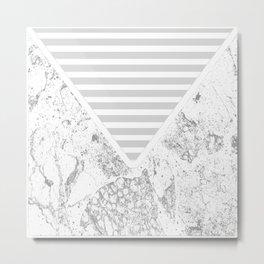 The Envelope: Marble + Stripe Metal Print