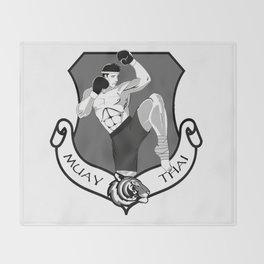 Muay Thai Crest Throw Blanket