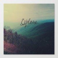 explore Canvas Prints featuring Explore by Olivia Joy StClaire