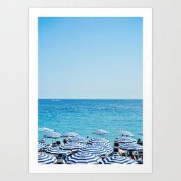 Hues of Blue Art Print