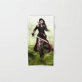 Lady knight - Warrior girl with sword concept art Hand & Bath Towel