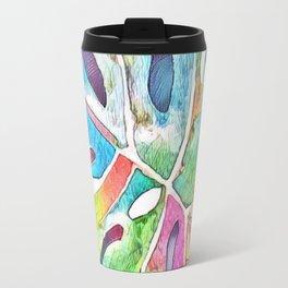 Pastel Rainbow Botanical Travel Mug