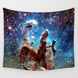 The Pillars of Creation Blue Brown Wall Tapestry