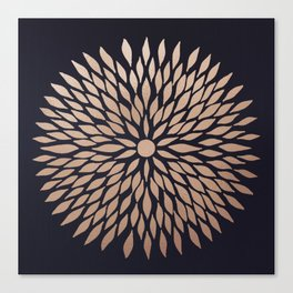 Rose Gold Flower Canvas Print