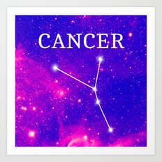 Starry Cancer Constellation Art Print