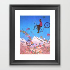 At the top of the world Framed Art Print