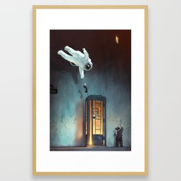 And falling up... Framed Art Print