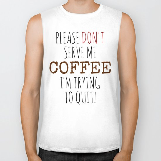 Quitting Coffee Biker Tank