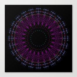 Futuristic Zen tangle Mandala art Canvas Print