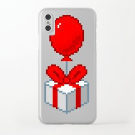 Animal Crossing Balloon Present Clear iPhone Case