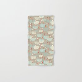 Botanical Block Print M+M Latte by Friztin Hand & Bath Towel