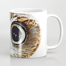 Owl Indented Face Lonely Subjugated Bird Looking Ahead Coffee Mug