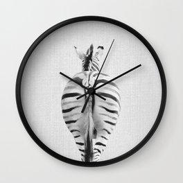 Zebra Tail - Black & White Wall Clock