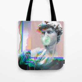 Vaporwave Glitch Tote Bag