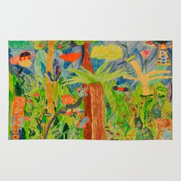 Paradise Delight | Kids Painting by Elisavet Rug