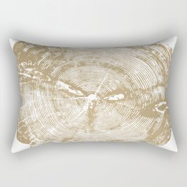 Sundance Pine, Tree ring print Rectangular Pillow