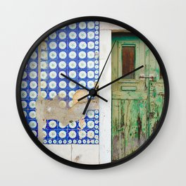 The green door Wall Clock