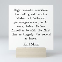 4  | Karl Marx Quotes | 190817 Mini Art Print