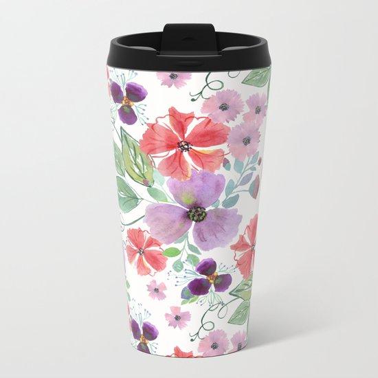 Floral pattern 7 Metal Travel Mug