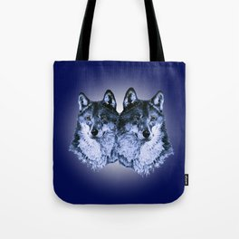 Season of the Wolf - Duet in Sapphire Tote Bag