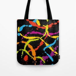 Splattered Rainbow [BLACK] Tote Bag