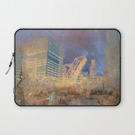 Drawbridge Chicago River City Skyline Laptop Sleeve