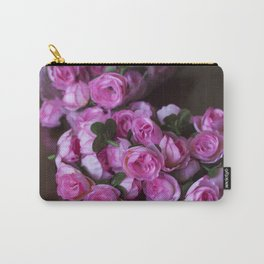 Pink Rose Buds Carry-All Pouch