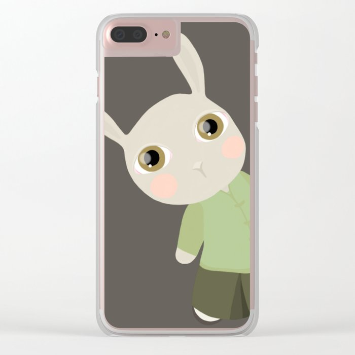 Chinese Rabbit Clear iPhone Case