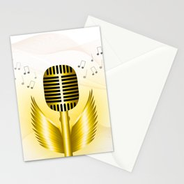 Music is soaring Stationery Cards