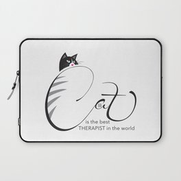 Cat is the best THERAPIST in the world Laptop Sleeve